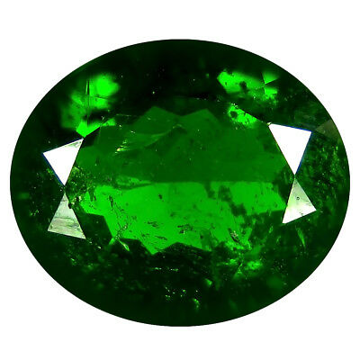 4.95 ct AAA Spectacular Oval Shape (12 x 10 mm) Green Chrome Diopside Gemstone