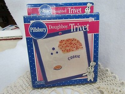 1999 pillsbury doughboy cookie ceramic trivet mib