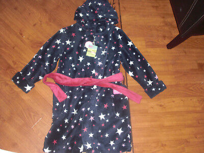 Bnwt Girls Joules Jnr Navy Stars Hooded Dressing Gown Age 5-6 Or 7-8 Yrs.£32.95