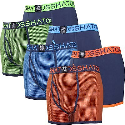 Mens Crosshatch Boxer Shorts Glowchex 2 Pack Set Gift Underwear Trunks New 2018