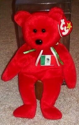 NWT OSITO Mexico 1999 BEAR TY Beanie Babies Baby Protective TAG Cover STORE CASE