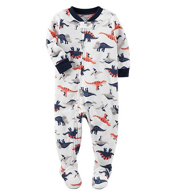 NWT ☀FOOTED FLEECE☀ CARTERS Boys Pajamas DINOSAURS  New  YOU PICK 7   8   $30