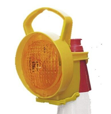 Conilamp Road Traffic Cone Continuous Steady On Warning Light Amber LED U2BA#