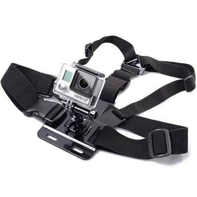 For GoPro HD Hero 1 2 3 3+ 4 Camera Adjustable Elastic Chest Strap Harness Mount