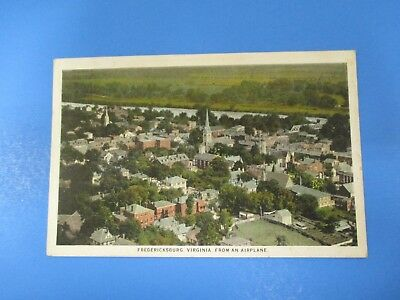 Vintage Fredericksburg Virginia Airplane View Post Card Correspondence PC53