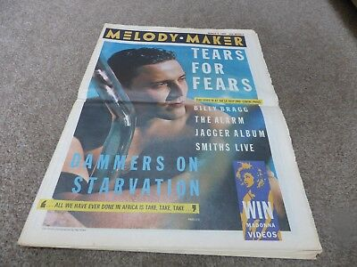 Melody Maker - 9/3/85, Tears For Fears / The Alarm / Jerry Dammers / Ub40