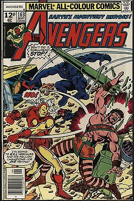 Avengers #163 Vs Hercules Bright Glossy Nm- 9.2 With White Pages