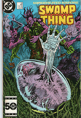 SWAMP THING # 39 - FISH STORY ( MOORE SCRIPT - 2nd SERIES - SCARCE 1985 )