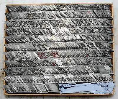30pt Palace Script .. Metal  letterpress Type # ADANA EIGHT FIVE  8 x 5 user