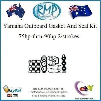 1 X New Yamaha Outboard Gasket & Seal Kit 75hp-thru-90hp # R 688-W0001-02