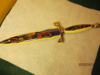 Rare Harley Davidson Dagger W/ Sheath Collectible Stainless Steel Blade 1970's