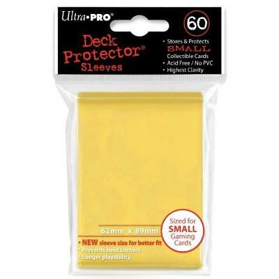 Ultra Pro Yellow Deck Protectors. YuGiOh Size. (60)