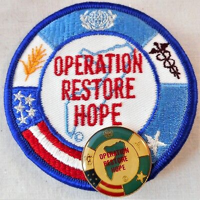 Operation Restore Hope Somalia Patch & Pin United States Led UN Force 1992-93