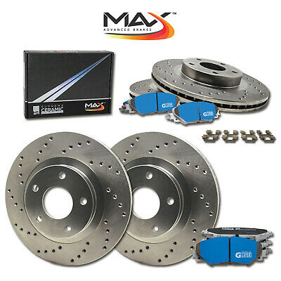 2007 2008 Chevy Suburban 1500 2WD/4WD Cross Drilled Rotors M1 Ceramic Pads F+R