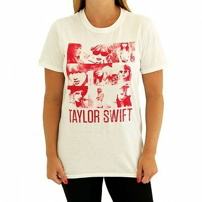 NEW Taylor Swift Red Promotional T-SHIRT TEE SHIRT LADIES L White