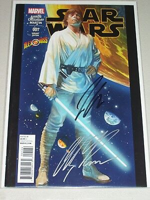 Star Wars #1! (2015) Alex Ross Variant! Signed-Jason Aaron & Alex Ross! NM! COA!