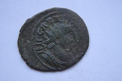 ANCIENT ROMAN  BRONZE COIN  ANT of CARAUSIUS 3rd CENTURY AD