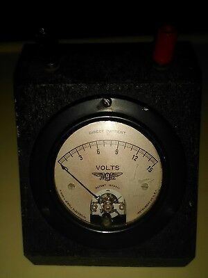Vintage Jewell Electrical Battery Meter- No Prongs