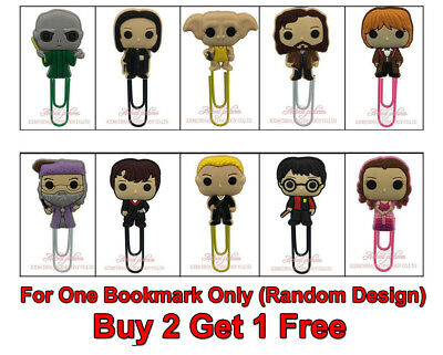 BUY 2 GET 1 FREE Harry Potter PVC Paper Clip Bookmark Gift For Her Him Boy Girl