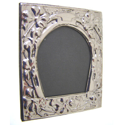 Sterling Silver Photo Frame.  Hallmarked Silver Horseshoe Style Picture Frame