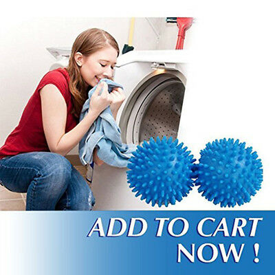 2 Pack - Dryer Balls Reusable Dryer Balls Replace Laundry Drying Fabric Softener
