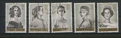 BELGIUM-USED PERFORATED SET -Mi.No.1293/7-1962.