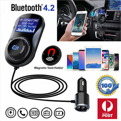 Wireless Bluetooth FM Transmitter Auto Radio Car MP3 Audio Player USB Charger