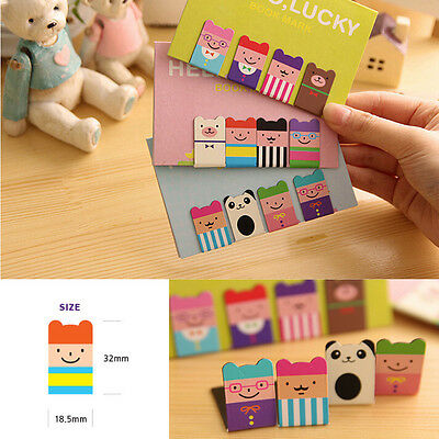 4x Bear Korean Magnetic Metal Lucky Book Mark Clip School Office Supplies Hot