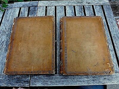Huge 1849 Full Leather 2 Vol Set Engineers & Machinists Assistant By Blackie