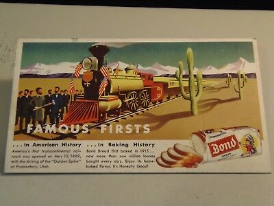 Bond Bread Blotter Ephemera SS