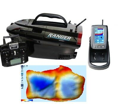 Cult Ranger Pro GPS Autopilot Baitboat With Lithium And Toslon TF650 Fish Finder