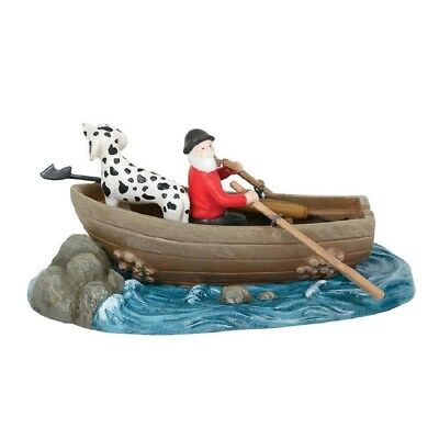 Department 56 New England Village In Before Dusk Row Boat Figurine 6000610 New