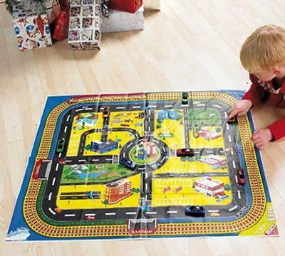 Road Playmat For Toy Cars Table Cover Cloth Tablecloth Play Mat Waterproof Town