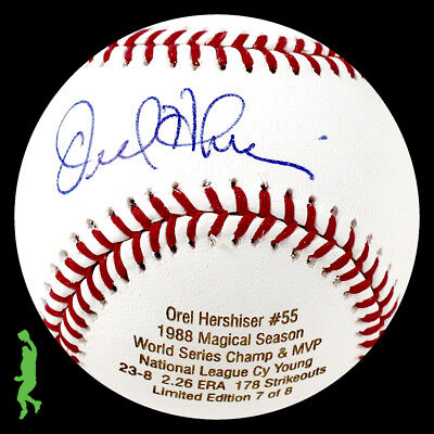 Orel Hershiser Autograph Signed 1988 Cy Young Ws Mvp Baseball Ball Psa/dna Coa