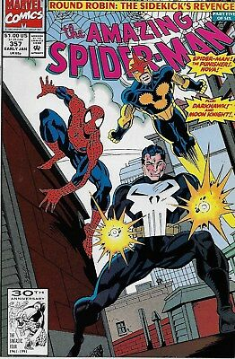 The Amazing Spider-Man (Vol.1) No.357 / 1991 Punisher / Al Milgrom & Mark Bagley