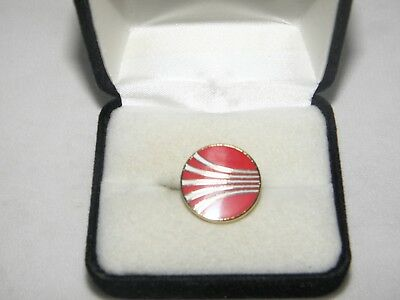 Continental Airline Lapel Tack Pin 1970's Logo Airplane Pilot Christmas Gift