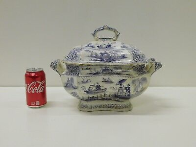 HUGE 1820s or 30s Napier Purle Staffordshire Transferware Fullsize Soup Tureen