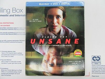 Unsane  (Blu-Ray + DVD + Digital HD) 2018 w/SLIP COVER ***FREE SHIPPING**