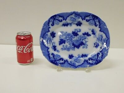 ANTIQUE Staffordshire Transferware Flow Blue Cauldon England Gandia Platter