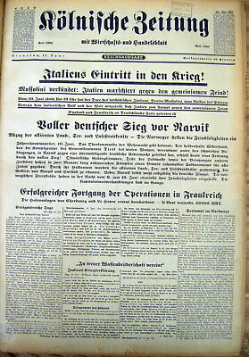 13 1940 German WW II newspapers ALLIED FORCES RESCUED @ DUNKIRK Escape 2 England