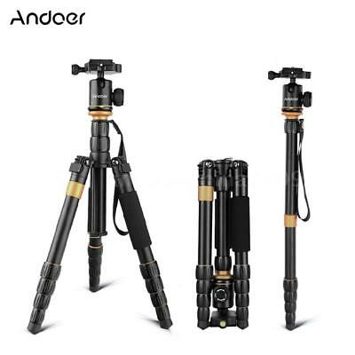 Professional Travel Aluminium Camera Video Tripod Monopod Ball Head for DSLR Cam