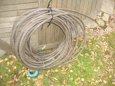 APPROX 40 METRE WIRE ROPE FOR WINCHES TIRFOR ETC 15mm DIA 3 TON SWL VAT INC SRA5
