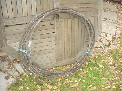 APPROX 20 METRE WIRE ROPE FOR TIRFOR TU32 ETC 16.2mm DIA 3 TON SWL VAT INC SRA6
