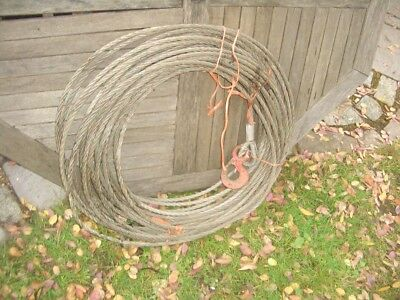 APPROX 20 METRE WIRE ROPE FOR TIRFOR TU16 T506 WINCHES ETC 11.6mm DIA  SRA4