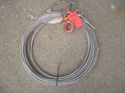 APPROX 10 METRE WIRE ROPE FOR TIRFOR MINIFOR ETC 7mm DIA 500KG SWL VAT INC SRA10