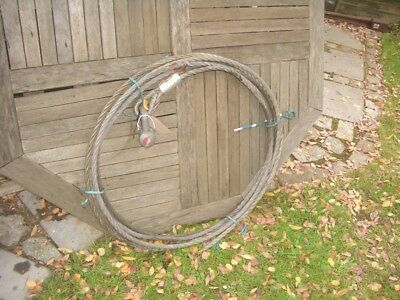 APPROX 10 METRE WIRE ROPE FOR 3 TON TIRFOR TU32 WINCHES & OTHERS 16.2mm  SRA2