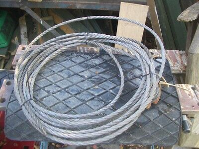 APPROX 10 METRE WIRE ROPE FOR TIRFOR TU16 ETC 11.6mm DIA 1.6T SWL VAT INC SRA14
