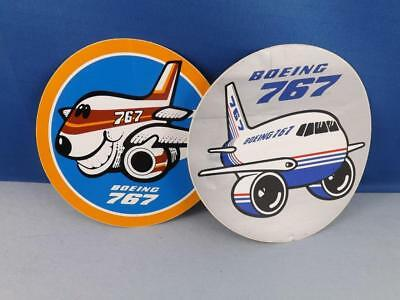 Boeing 767 Sticker Decal Lot Smiley Face  Vintage Airplane Aviation Collector