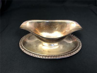 : VINTAGE - WM A. Rogers | Silver Plate Gravy Sauce Boat Dish