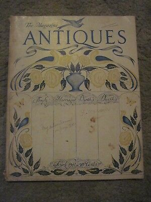 "1941 ""The Magazine ANTIQUES"" Great Collector Information Source + More"